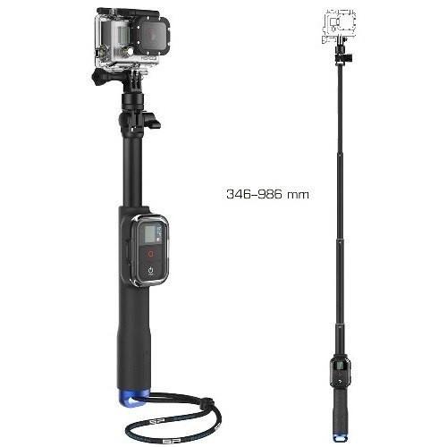 Профессиональный монопод для GoPro 35-99см, с креплением для wifi пульта GoPro