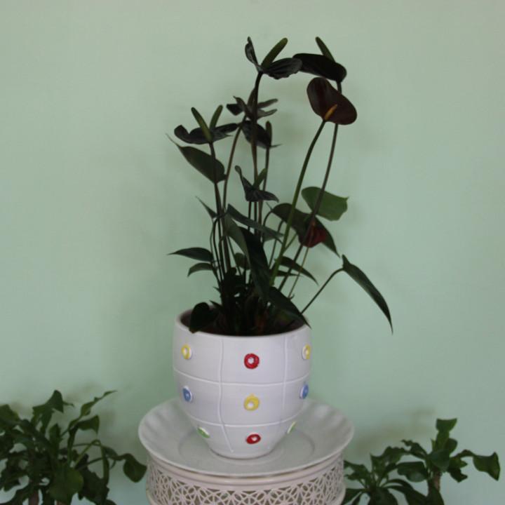 Керамический горшок для цветов .1 литр