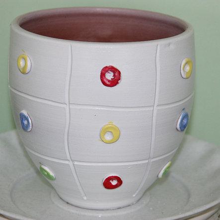 Керамический горшок для цветов ручной работы .2 л, фото 2