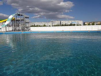 "Укладка ПВХ пленки ""Декопран"" для бассейна, аквапарк в г. Актобе 12"