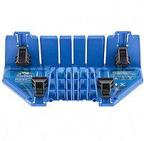Стусло пластиковое 350*100*80мм,5 углов для запила, приж.фиксаторы с угл.накл-ми 22560 (002)