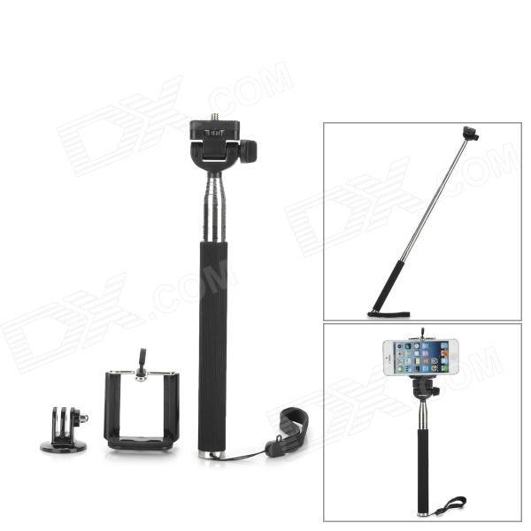 3-в-1 монопод для мобильного телефона, камеры и GoPro