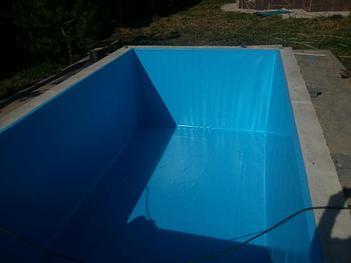 Наши работы по облицовке  бетонных и металлических чаш бассейнов ПВХ лайнером 7