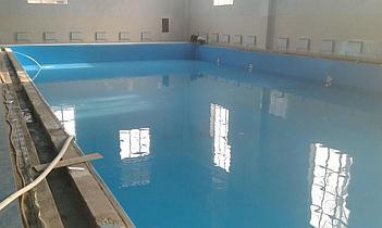 Наши работы по облицовке  бетонных и металлических чаш бассейнов ПВХ лайнером 8