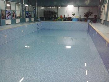 Наши работы по облицовке  бетонных и металлических чаш бассейнов ПВХ лайнером 11