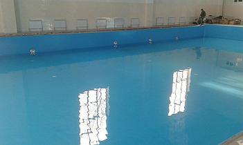 Наши работы по облицовке  бетонных и металлических чаш бассейнов ПВХ лайнером 14