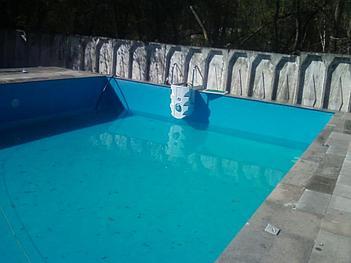 Наши работы по облицовке  бетонных и металлических чаш бассейнов ПВХ лайнером 16