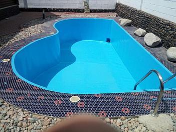 Наши работы по облицовке  бетонных и металлических чаш бассейнов ПВХ лайнером 19