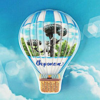 Магнит с воздушным шаром 'Воронеж. Котёнок с улицы Лизюкова'