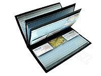 Визитница DELI на 288 визиток, PVC черная