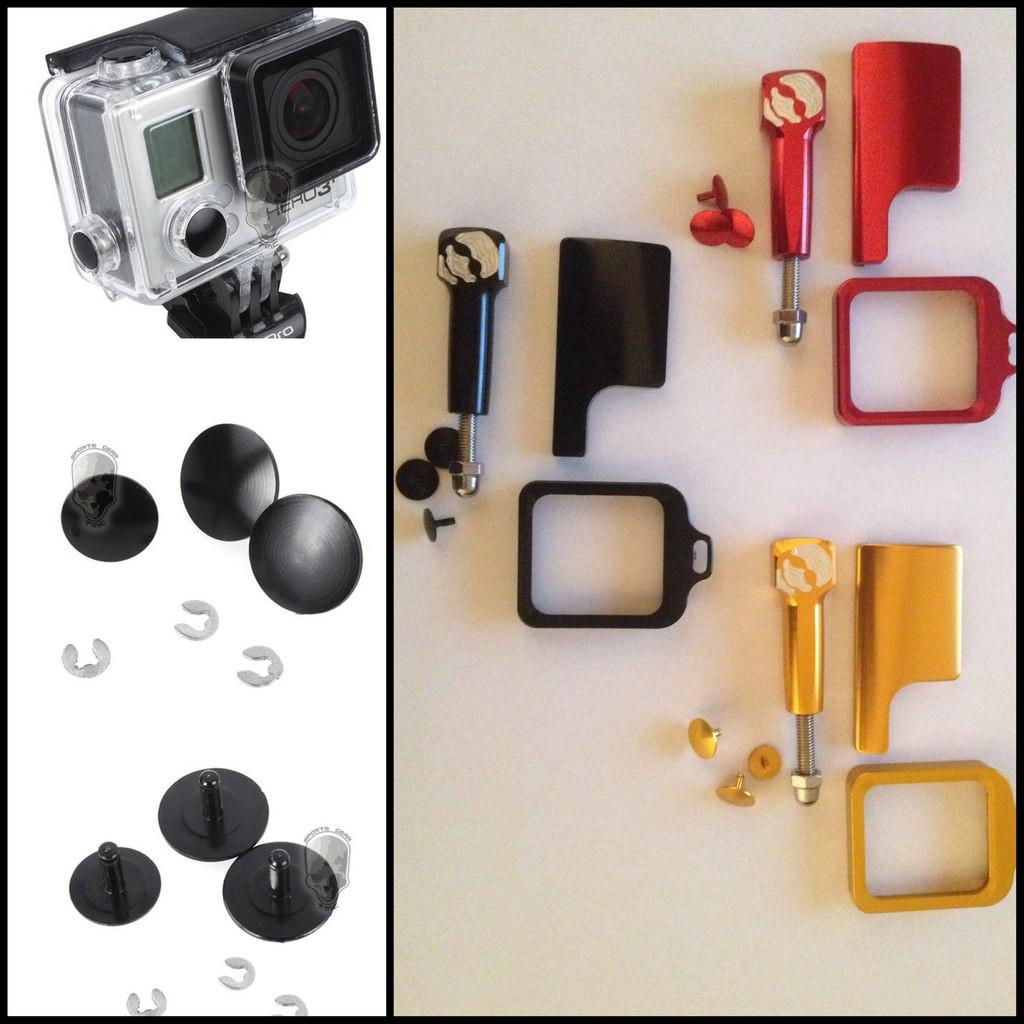 Алюминиевые аксессуары для бокса, для GoPro (черный, красный, золотой)