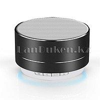 Портативная Bluetooth колонка с подсветкой  (music mini speaker v2.1) черная