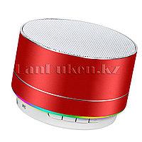 Портативная Bluetooth колонка с подсветкой music mini speaker v2.1 красная