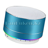 Портативная Bluetooth колонка c подсветкой (music mini speaker v2.1) синяя