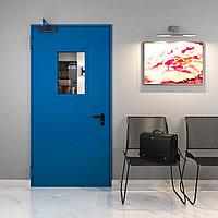 Техническая одностворчатая остекленная дверь. Размер до 2200х990 мм.