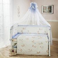 Детский постельный комплект Тиффани Неженка, голубой,  7 предметов