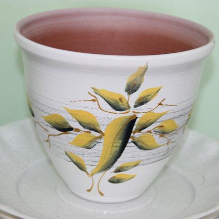 Керамический горшок для цветов  ручной работы.0.5 л, фото 2