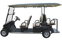 Пассажирский кар 6-ти местный белого цвета с задним складным сиденьем EG2048KSF
