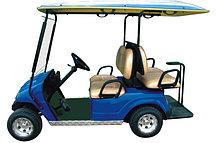 Пассажирский кар 4-х местный синего цвета со складным задним сиденьем EG2028KSF