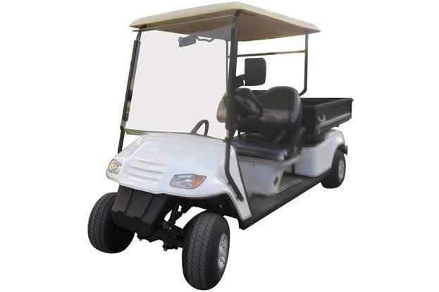 Гольфкар с грузовым ящиком белого цвета грузоподъемностью 450 кг EG2049HCX