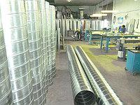 Воздуховод круглый из оцинкованной стали толщиной 0,7 мм.