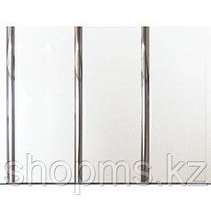 Панель пластиковая трехсекционная Белая-Серебро 609 (0,25*3м/12)