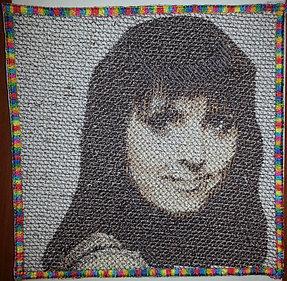 Машинная вышивка портретов 1