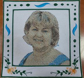 Машинная вышивка портретов 2