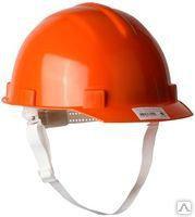 Каска защитная с тканевой амортизационной вставкой, цвет оранжевый