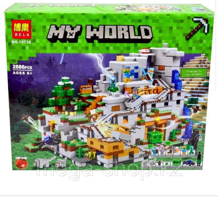 Конструктор bella Minecraft «горная пещера» арт 10735