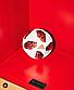 Футбольный мяч ЧМ Telstar 2018 красный, фото 2