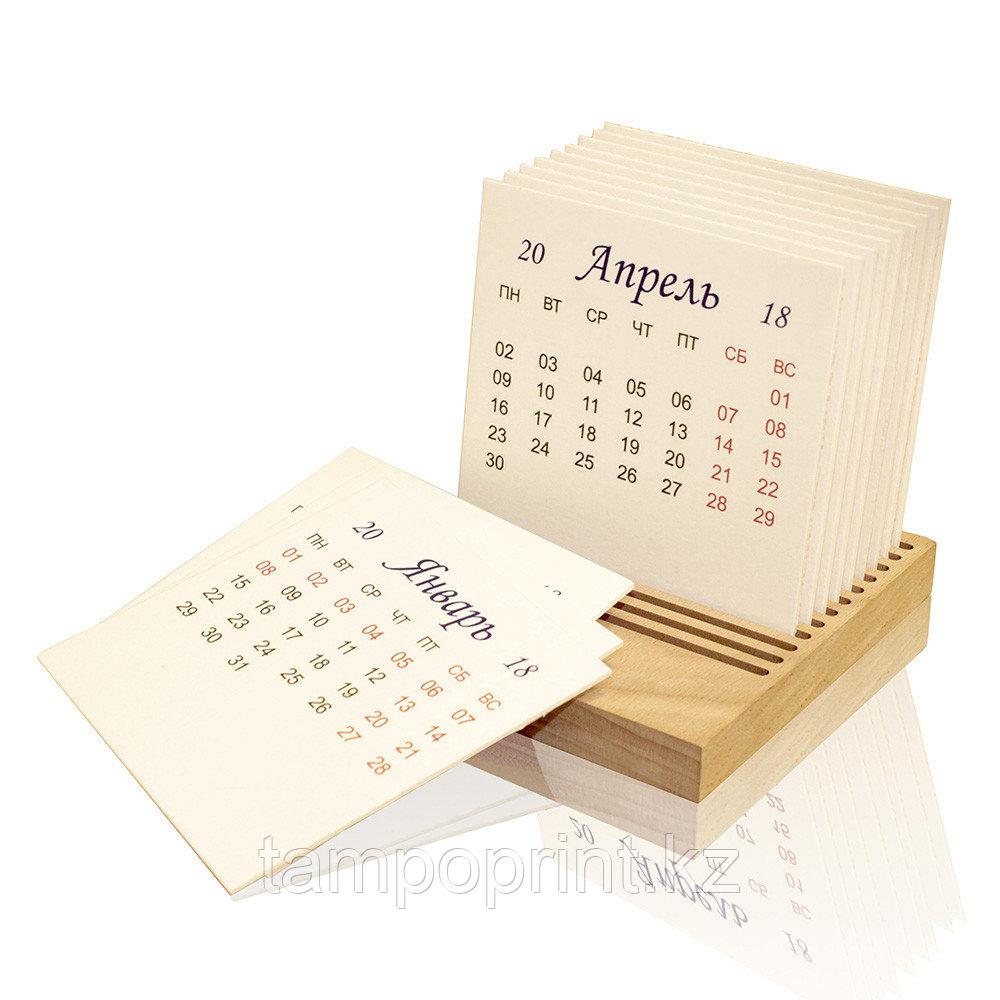 Настольный календарь DS029 с картонными блоками