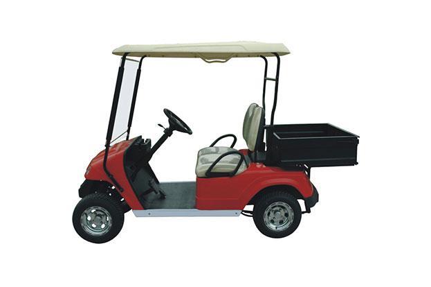 Гольфкар с грузовым ящиком красного цвета грузоподъемностью 300 кг EG2028H