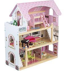 """Игровой набор """"Деревянный дом для кукол"""" с мебелью, 62,5*31*70 см"""