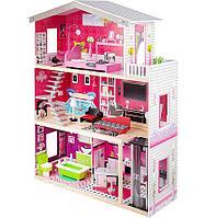 """Игровой набор """"Деревянный дом для кукол"""" с мебелью, 82,5*31*115 см"""