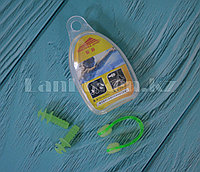 Комплект беруши и зажим для плавания в ассортименте Зеленый