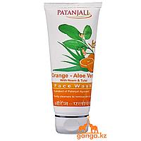 Гель для умывания Апельсин и Алоэ Вера (Orange & Aloe Vera Face Wash PATANJALI), 60мл.