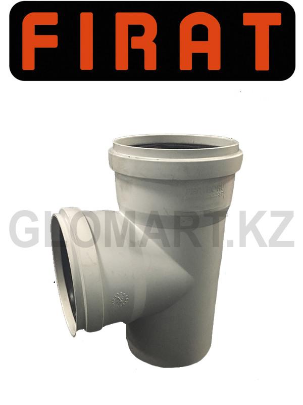 Тройник канализационный Фират 100 мм прямой (Firat)