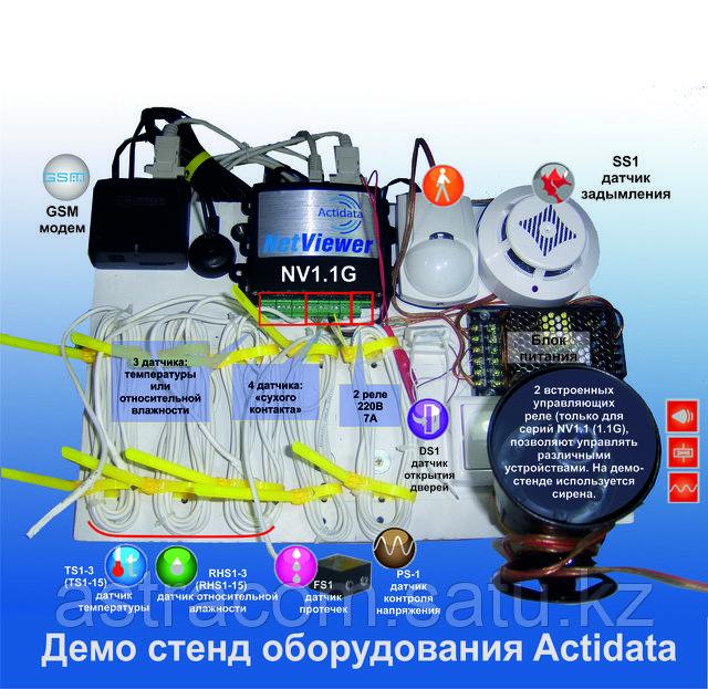 Actidata, контролер, датчики, контроль температуры