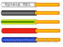 Провод ПВ 1х1,5 - желто-зеленый