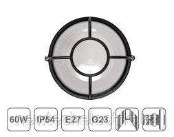 Светильник НПП 1304-60 - бел/круг солнце IP54 ИЭК