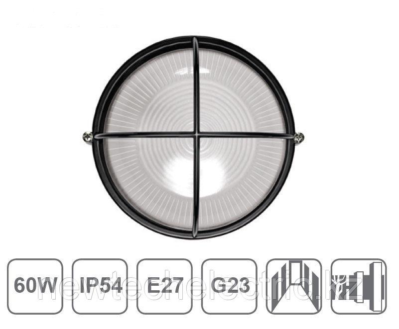 Светильник НПП 1308-60 - черн/круг решетка крупная IP54 ИЭК