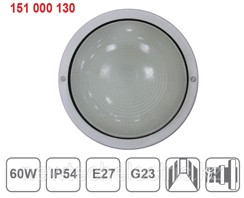 Светильник НПП 2602-60 - черн/круг пласт IP54 ИЭК
