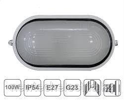 Светильник НПП 2603А-60 - бел/овал без реш пластик IP54 ИЭК