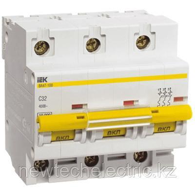 Автоматический выключатель ВА 47-100 (3ф) 10А - цена, купить в Алматы