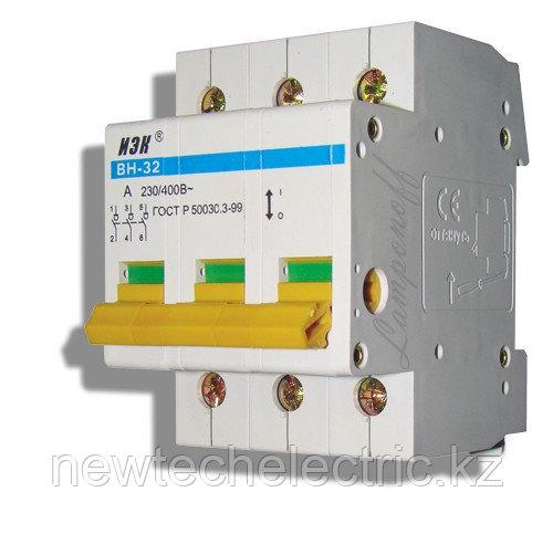 Выкл. нагрузки ВН-32 (3ф) 63А - цена, купить в Алматы, Астане, Караганды