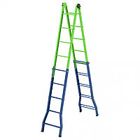 Лестница стремянка трансформер СИБРТЕХ, 148 см - 44 см / 220 см - 448 см, 97892