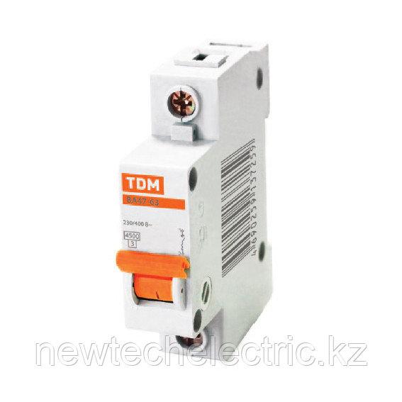 Автоматический выключатель ВА47-63 1Р 63А: 4,5кА х-ка С