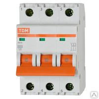 Автоматический выключатель ВА47-63 3Р 25А: 4,5кА х-ка С