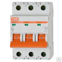 Автоматический выключатель ВА47-63 3Р 50А: 4,5кА х-ка С